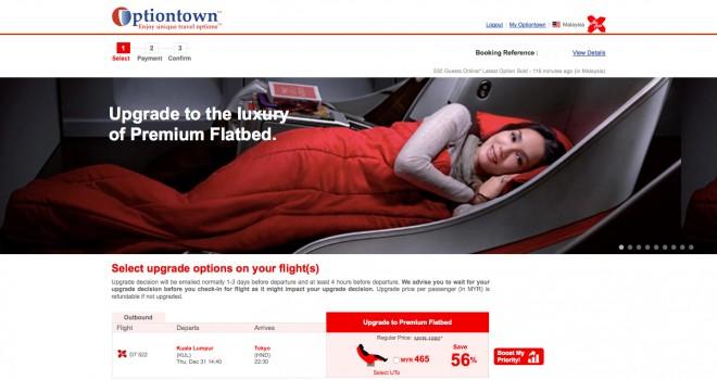 Airasia Optiontown Upgrade
